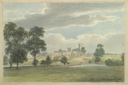 Little Easton Church from the Park 1802